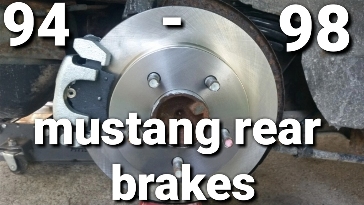medium resolution of 94 98 mustang rear brakes
