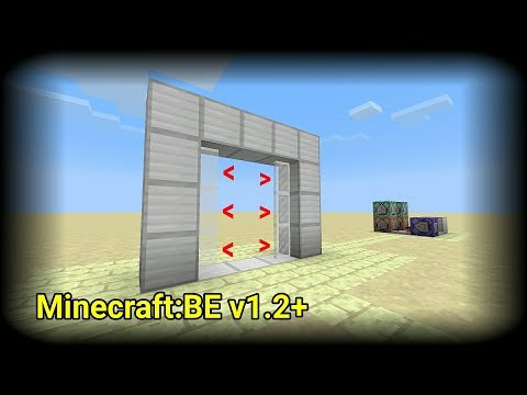 ✓ Minecraft: How to build a Sliding Glass Door