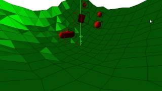 Physics simulation - GJK + EPA algorithm test #1