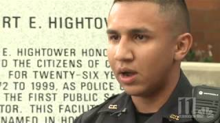 Cobb Police officer hailed a hero for pulling woman from burning car