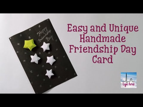 Easy and Unique Friendship Day Card Idea | How to Make an Easy Handmade Friendship Day Card