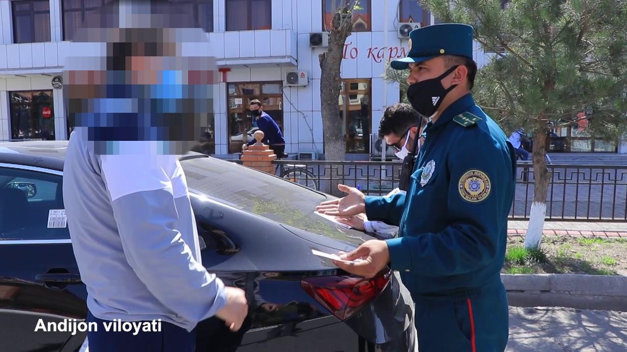 25 soat 18-son Toshkent Cityda asossiz tunda aylanib yurgan qiz ushlandi! (13.04.2020)