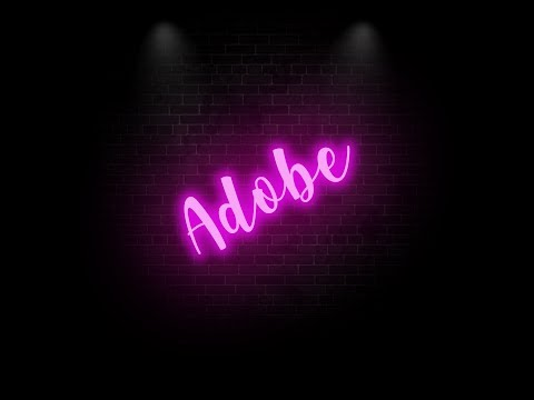 How to create Neon Text Effect in Adobe Illustrator