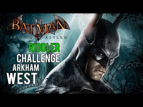 Batman Arkham Asylum - Arkham West Riddler Challenge (Trophies, Riddles, Teeth and Spirits)