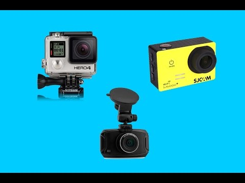 GoPro HERO4 vs SJ5000 Plus vs GS90C Car Dvr Comparison