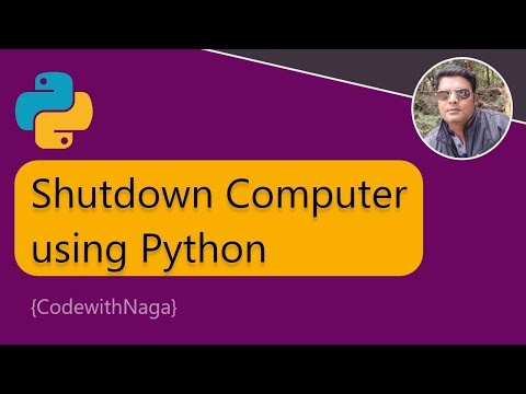 How To Shutdown Computer Using Python | Python Scripting Tutorial In Tamil [2019]