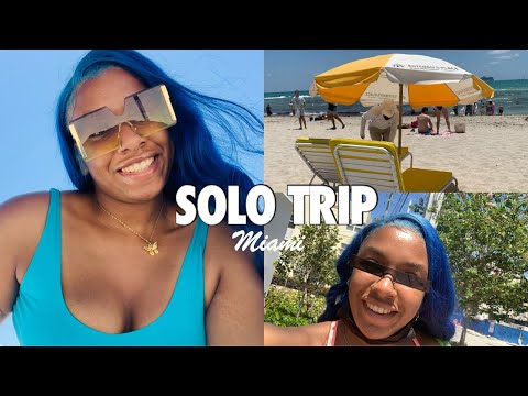 I WENT ON A SOLO TRIP TO MIAMI!