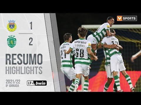 Highlights | Resumo: FC Arouca 1-2 Sporting (Liga 21/22 #8)