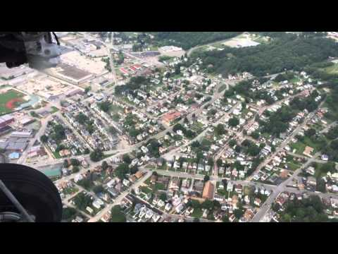 Flying over Butler, Pennsylvania in a Ford Tri-Motor