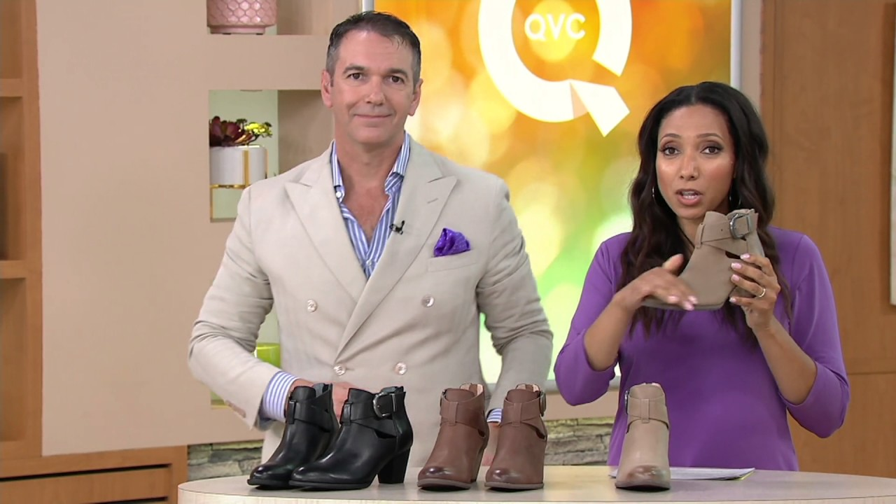 ffeacb55e6c4 Vionic Orthotic Leather Cut-out Ankle Boots - Rory on QVC - YouTube