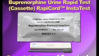Buprenorphine Urine Rapid Test Cassette) RapiCard™ InstaTest