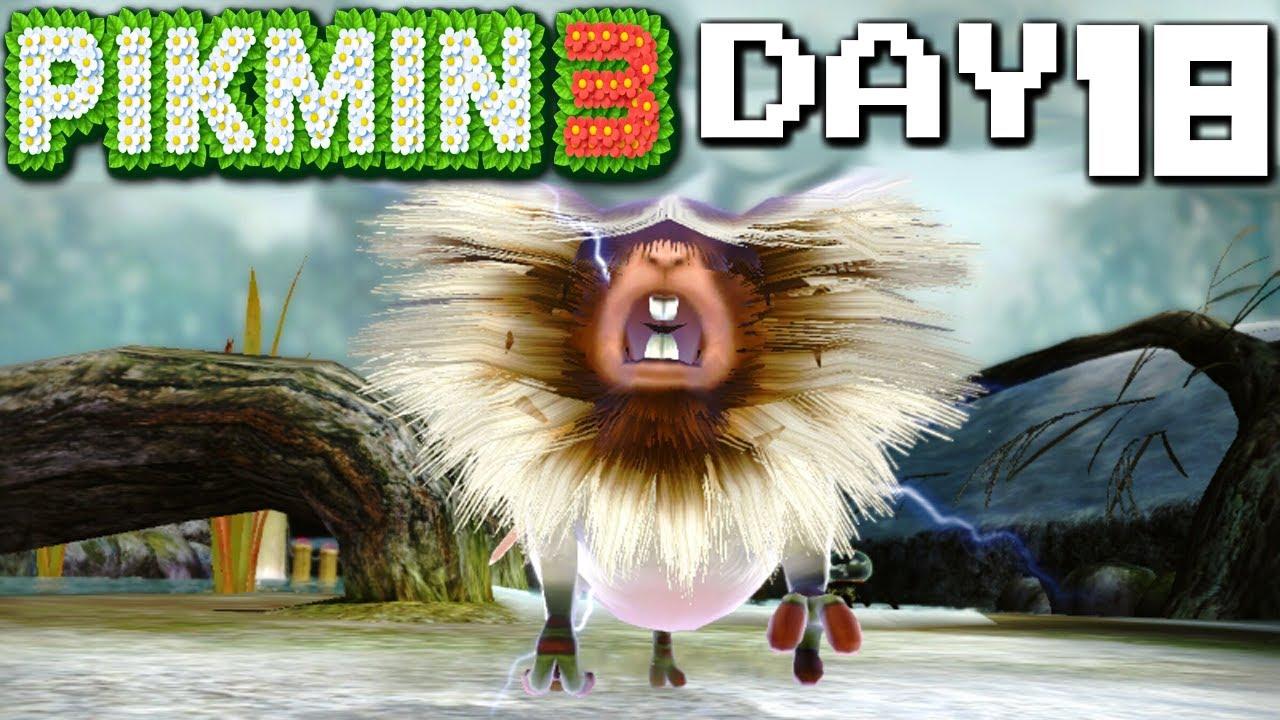 Pikmin 3 Amprat S Wrath Day 18 Nintendo Wii U Hd Gameplay