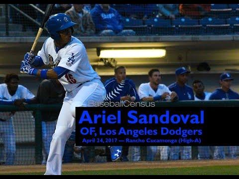 Ariel Sandoval, OF, Los Angeles Dodgers — April 24, 2017