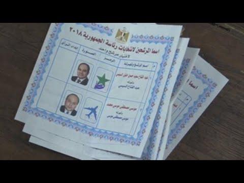 Los primeros recuentos parciales dan una aplastante victoria a Al Sisi