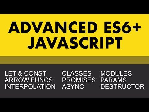 Advanced Javascript (ES6+)   Learn Web Development Now