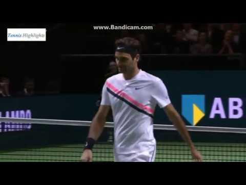 Roger Federer vs Ruben Bemelmans 2018 ROTTERDAM R1 Highlights
