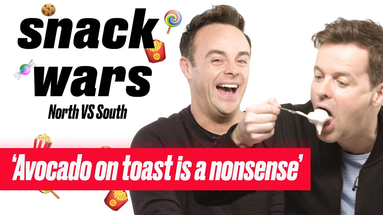 Ant and Dec Decide Which British Food Is The Best | Snack Wars | North Vs South | LADbible