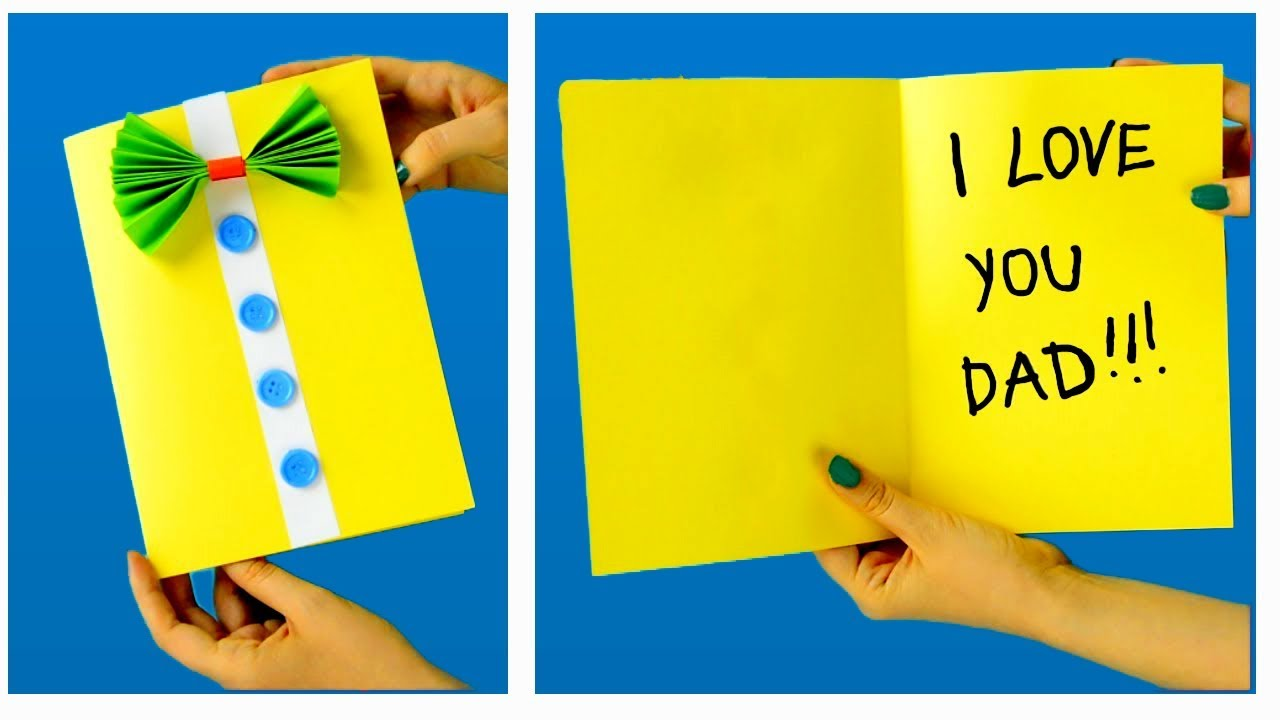 Father's Day Card For Kids ♥ Easy Homemade Father's Day ...