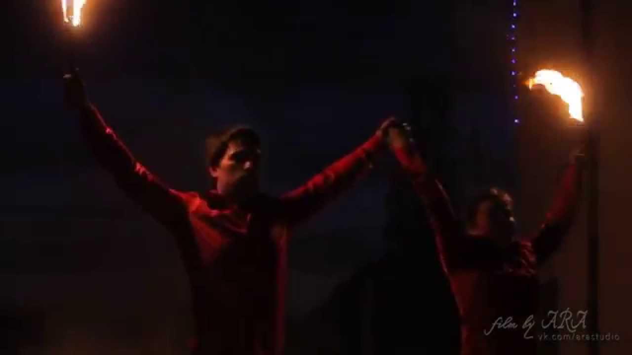 Огненное шоу фаер шоу M&M на Юбилее в Орше ресторан GRAND