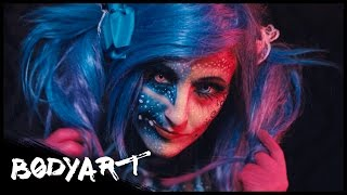 Crazy&Cute SKULL-GIRL  || FACEPAINTING