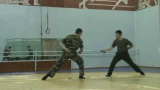 Фехтование на шашках - учебный бой