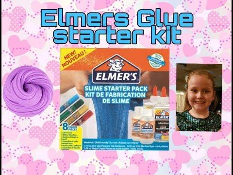 Elmers Slime Testing Out Elmers Slime Starter Kit Making Slime