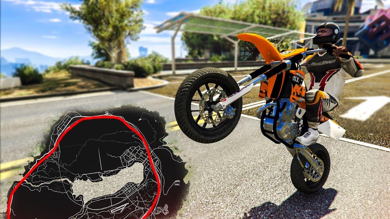 Wheelie Around The Whole Map Gta 5 Stunt Challenge Youtube