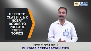 NTSE Stage-1- Physics Preparation Tips by ALLEN PNCF Division Subject Experts | NTSE Exam Tips