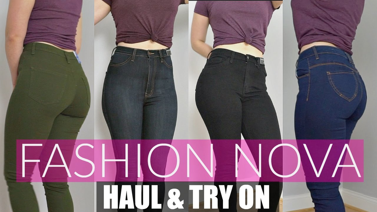 Huge Fashion Nova Try On Haul \u0026 Review  Jeans For Curvy