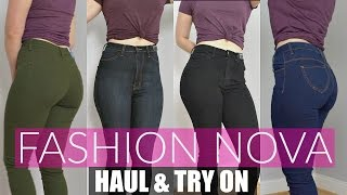 huge fashion nova try on haul review   jeans for curvy women