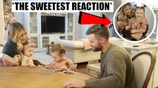 Telling our kids were pregnant! Baylee's reaction was so sweet. I'm...