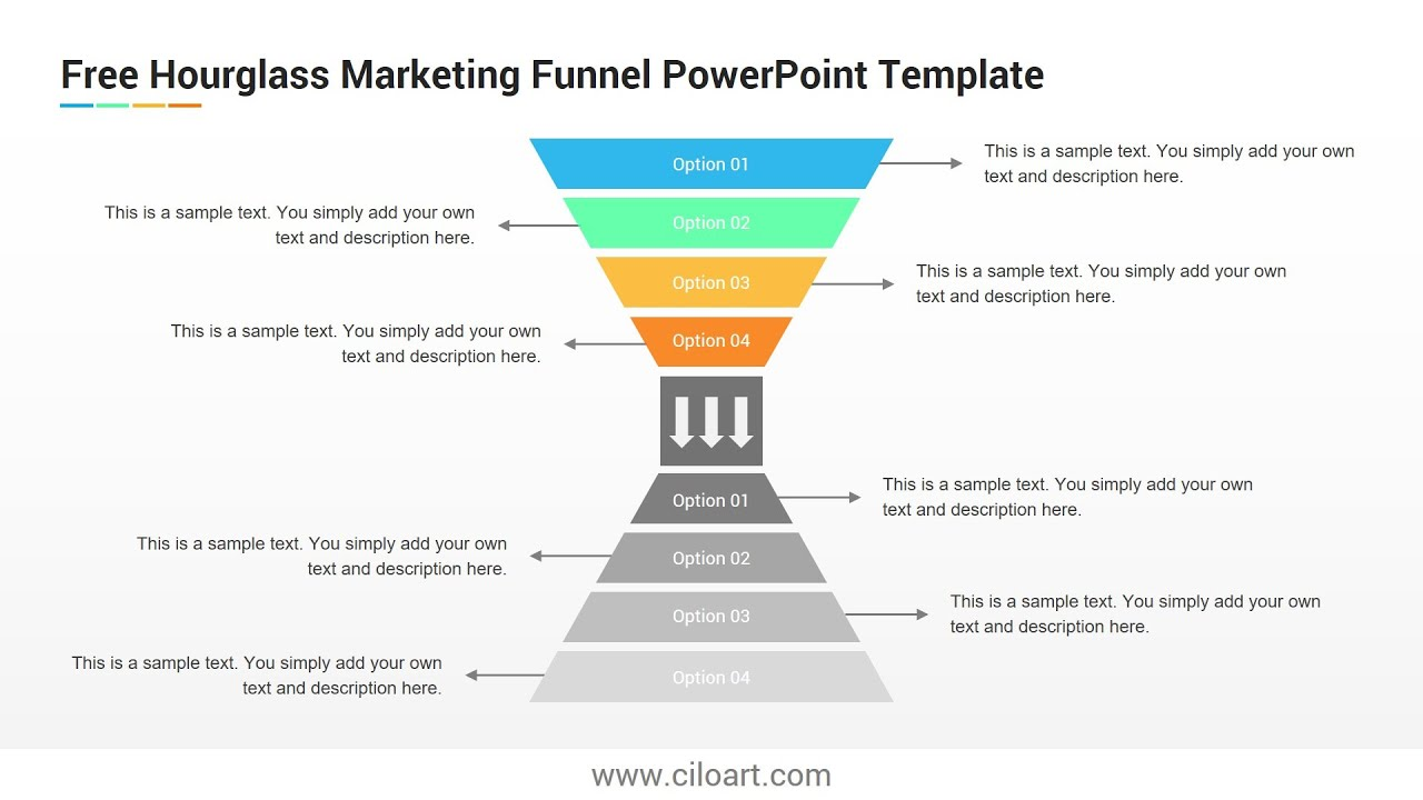 Hourglass Marketing Funnel Free Powerpoint Template Youtube