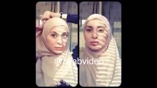 tutorial hijab wanita muslim eropa timur 2015 cantik banget