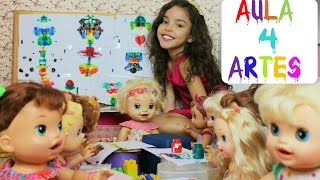 baby alive brincando de escolinha quarta aula artes