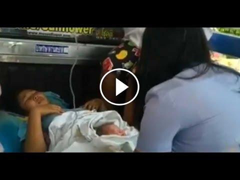 เรื่องเล่าเช้านี้ สาวระยองท้องแก่คลอดลูกบนรถสองแถว ปลอดภัยทั้งแม่และเด็ก (11 มี.ค.59)