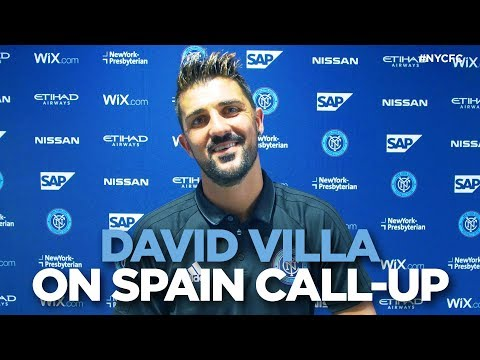 David Villa reacts to Spain Call-up
