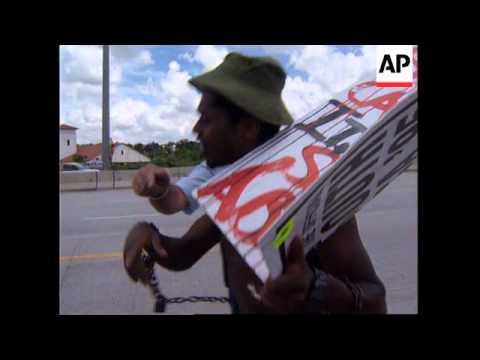 SOUTH AFRICA: BOYCOTT SHELL OIL DEMONSTRATION