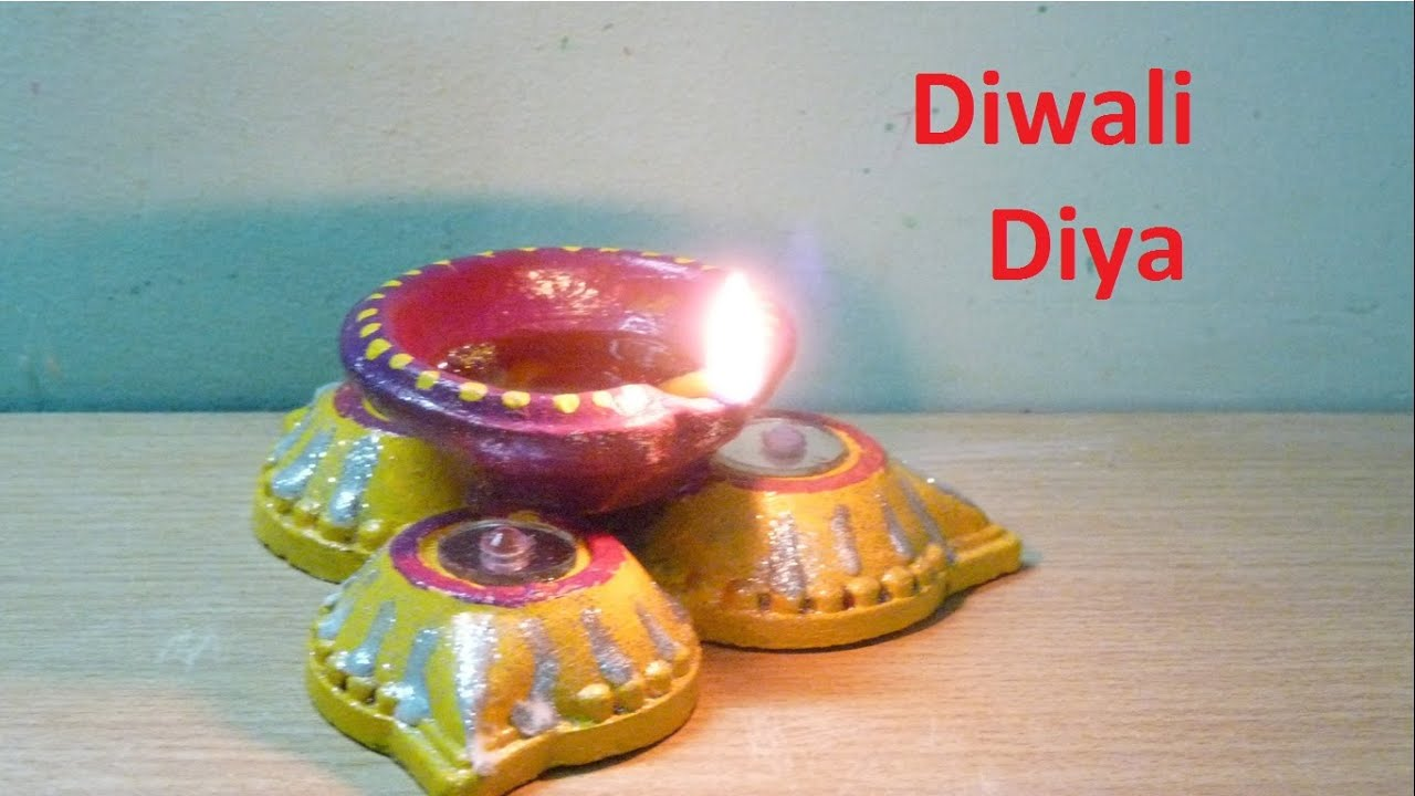 How To Make Decorated Diwali Diya Oil Lamp From Old Or