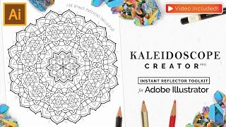 Vector Kaleidoscope for Adobe Illustrator - Tutorial