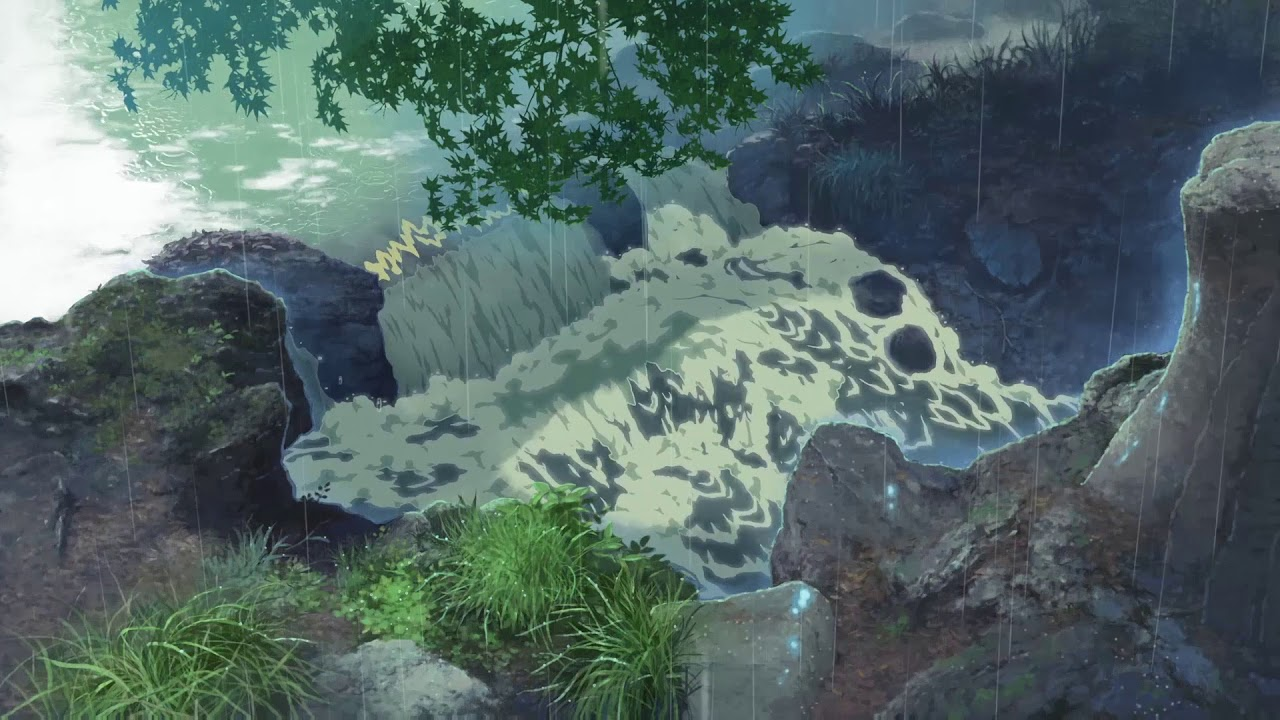 Wallpaper Engine The Garden Of Words Small Waterfall Youtube