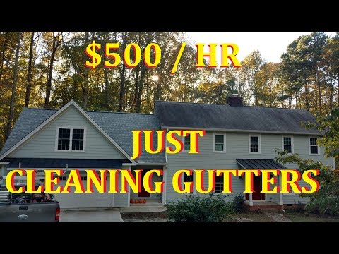 Gutter Cleaning - how to clean an entire house in 15 minutes!