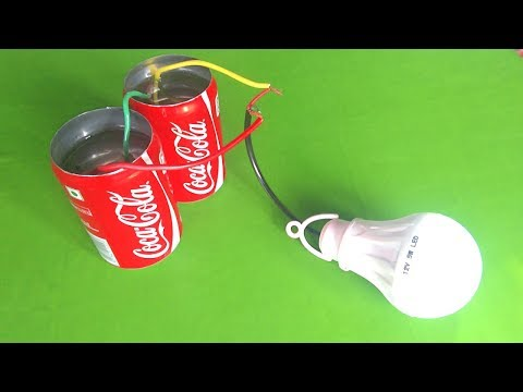 Free energy light bulb using salt