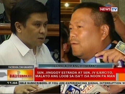 Sen. Jinggoy Estrada at Sen. JV Ejercito, malayo ang loob sa isa't isa noon pa man