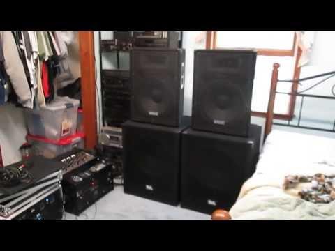 "DJ Setup/Seismic Audio Speakers with 18"" SA Subs"