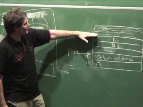 Lecture 12.2: The mechanics of function calls (part 2) - Richard Buckland UNSW