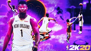 99 ZION WILLIAMSON BUILD IS ONE OF A KIND ON NBA 2K20! CRAZY CONTACT DUNKS & SPEED-BOOSTING SLASHER