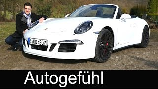 New Porsche 911 Carrera GTS Cabriolet FULL REVIEW test driven 430 hp 2016 Porsche 991