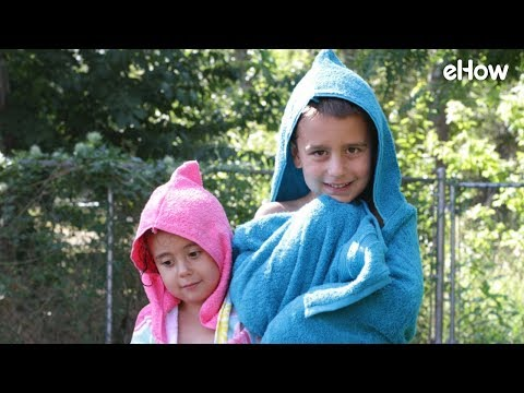 DIY Beach Towel Hoodie For Kids