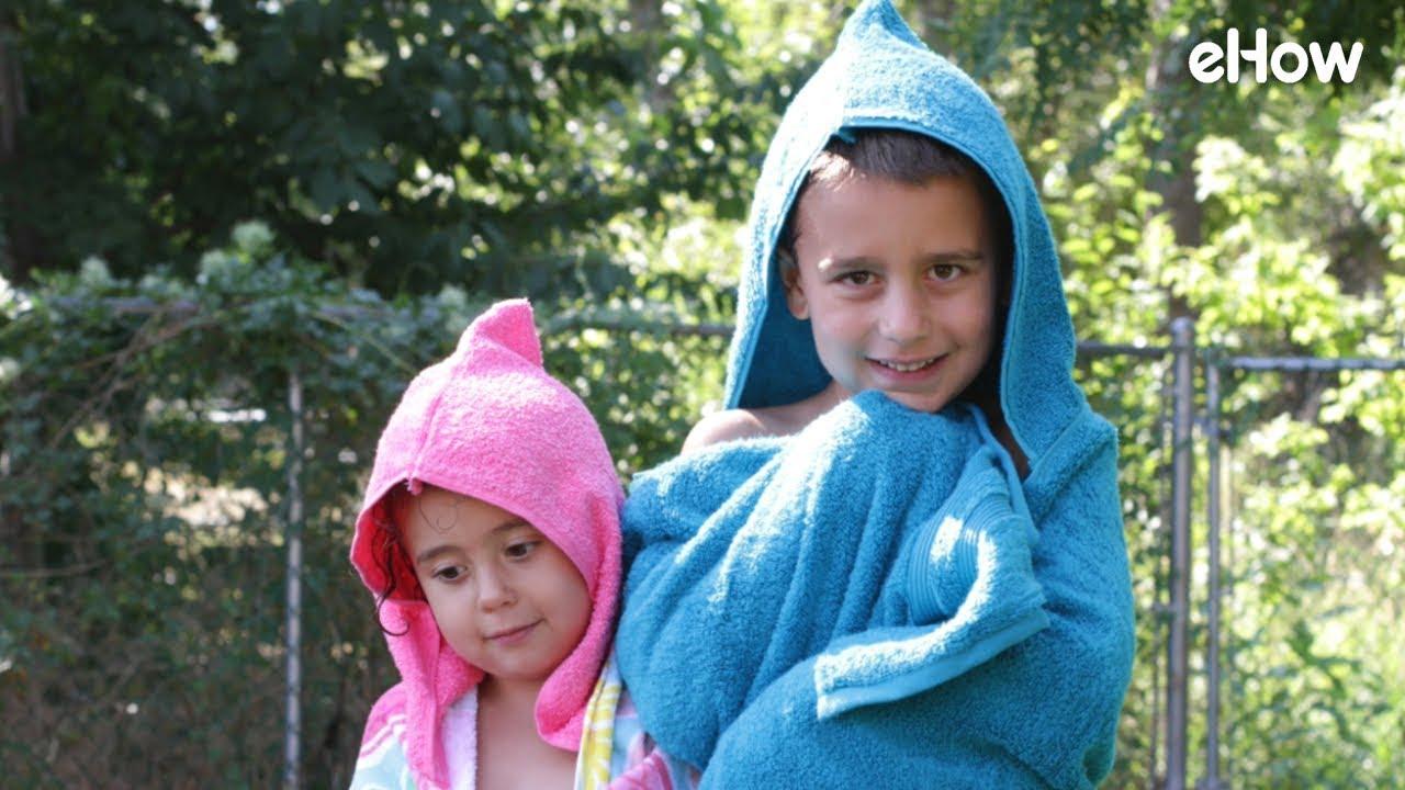 DIY Beach Towel Hoodie for Kids