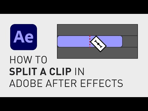How to split a clip in Adobe After Effects